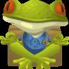Yoga Frosch (Maskottchen)