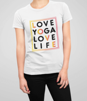 Love Yoga Love Life Damen T-Shirt