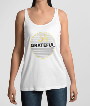 Grateful Om Dankbarkeit Damen Tank Top Weiß